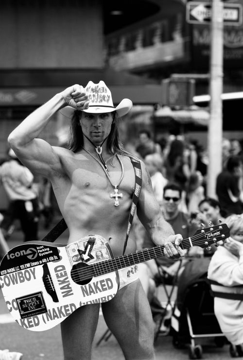 The Naked Cowboy at Times Square - YouTube