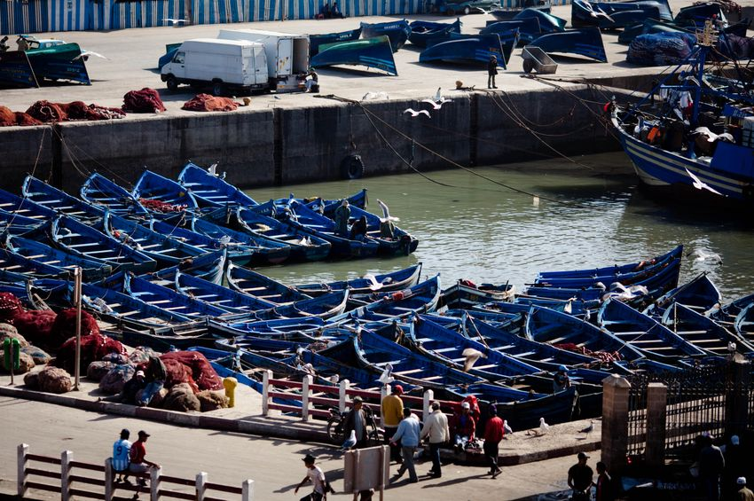 The Photodiarist in Color- ESSAOUIRA-BLUE BOATS No. 2