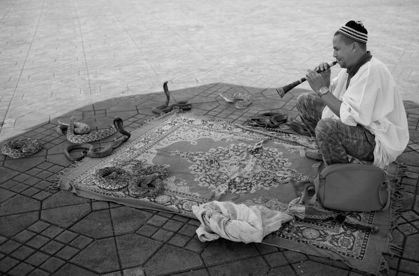 The Photodiarist- MARRAKECH-THE SNAKE CHARMER