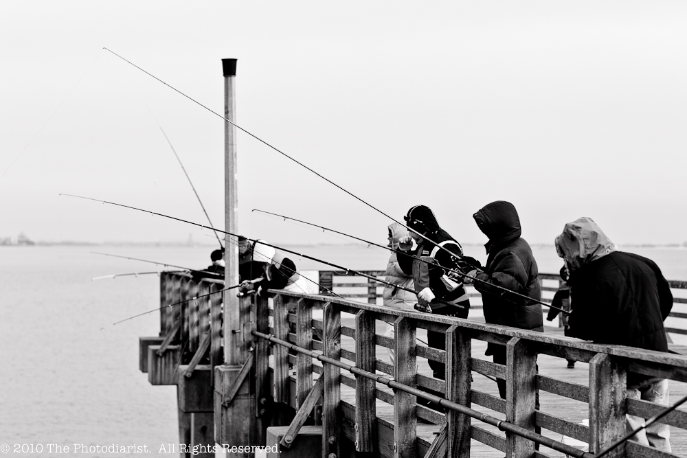 FISHING OFF THE CONEY ISLAND PIER