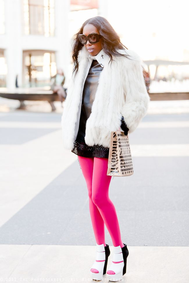 NYFW- Girl in the Pink Tights II