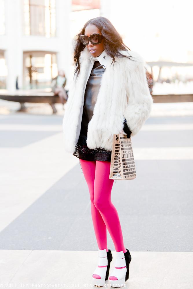 NYFW- Girl in the Pink Tights II