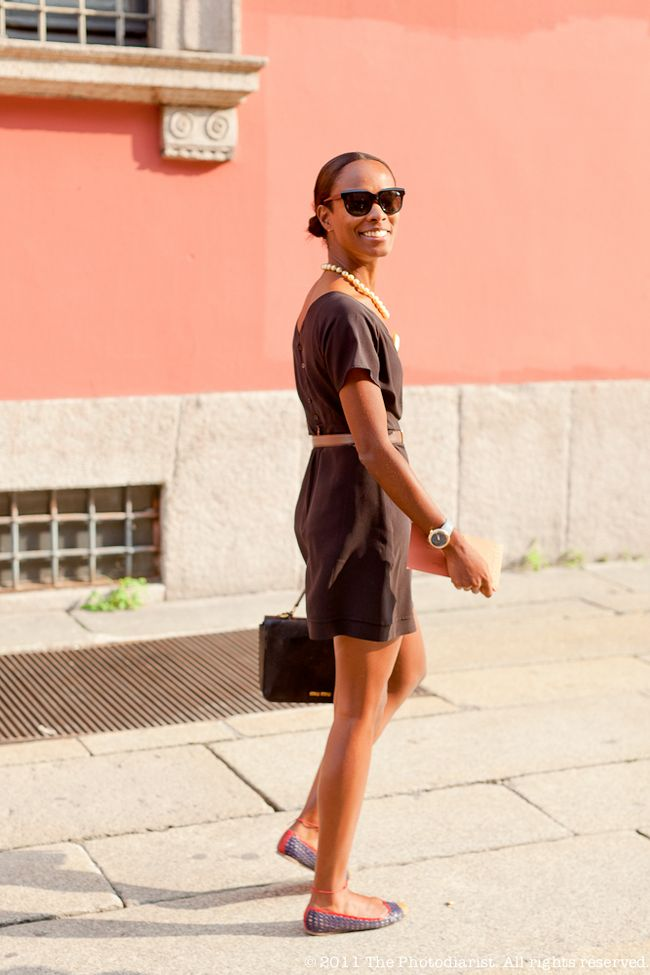 BEFORE THE MISSONI SHOW- CHIC SHALA MONROQUE