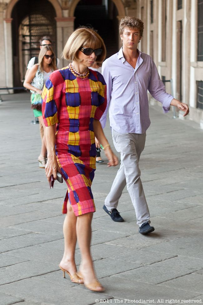 AFTER THE MISSONI SHOW- ANNA WINTOUR