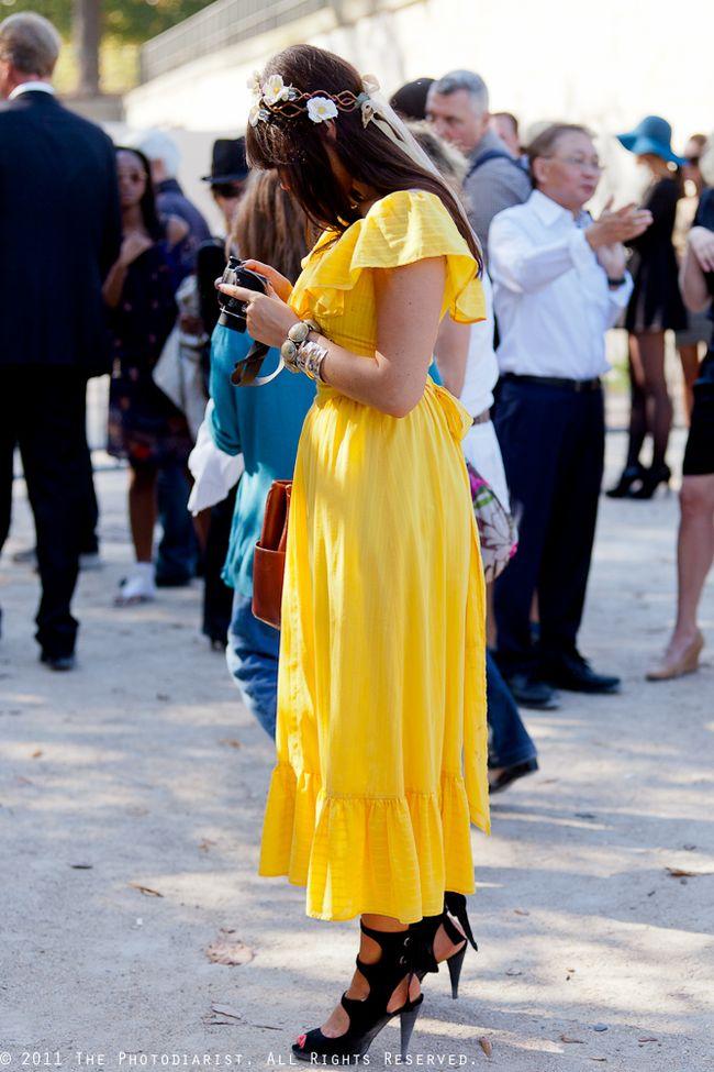 BEFORE GUY LAROCHE- YELLOW DRESS