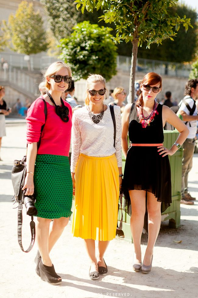 AT PARIS FASHION WEEK- TRIPLE THREAT