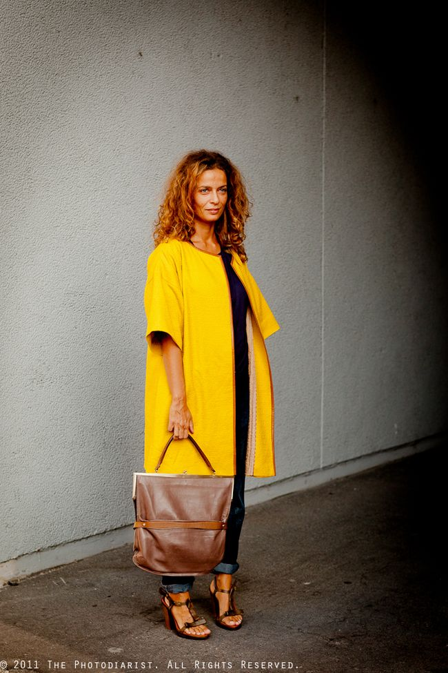 AT MILAN FASHION WEEK- YELLOW COAT