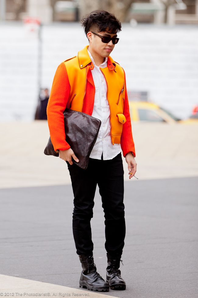 AT NEW YORK FASHION WEEK- A POP OF ORANGE