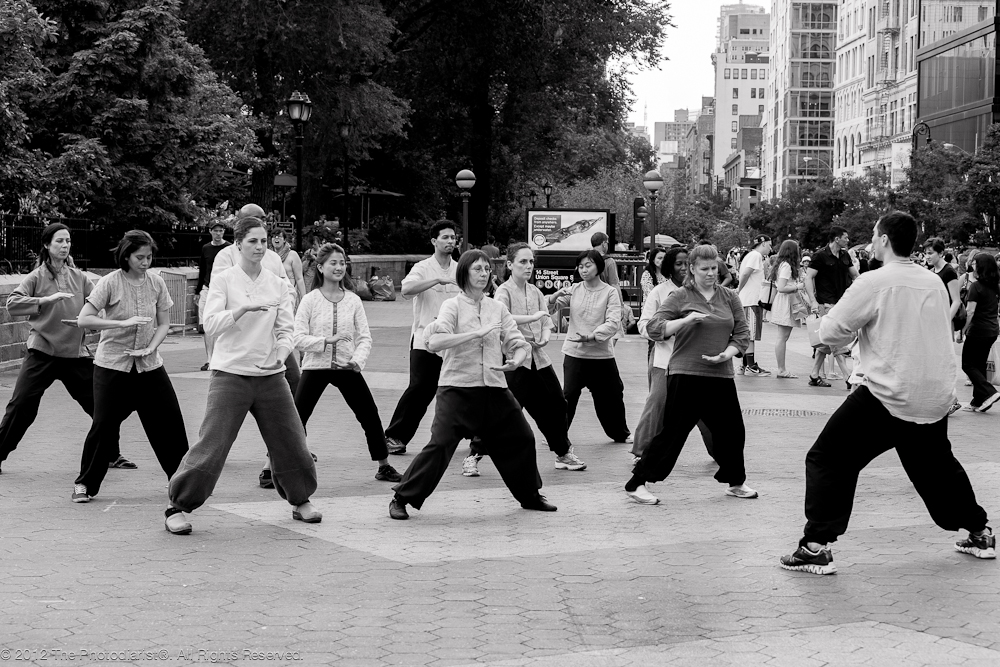 AT UNION SQUARE- TAI CHI CLASS
