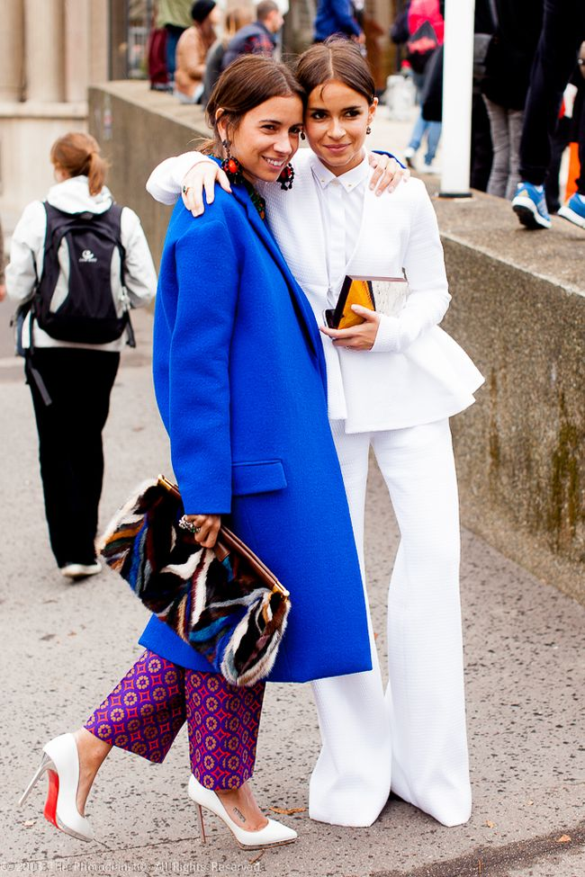 AT PARIS FASHION WEEK- MIROSLAVA DUMA AND NATASHA GOLDENBERG